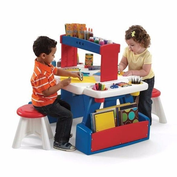 http://www.shopplaypens.co.za/product/creative-projects-table/The Creative Projects Table™ is the perfect art desk for your toddler or preschoolers' play room.• The table surface of the art desk includes molded-in storage trays and large removable storage cups for art supplies• The sturdy colorful shelf on this art desk provides convenient storage with easy access for preschoolers• The shelf can be repositioned to turn a personal art desk into an activity table accommodating two or more…