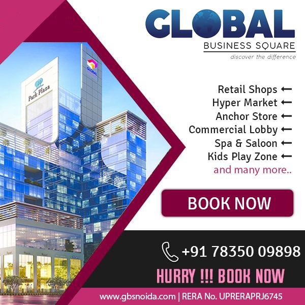 Exclusive New Projects Deals At Gbs Noida Global Business Commercial Property For Sale Commercial Property