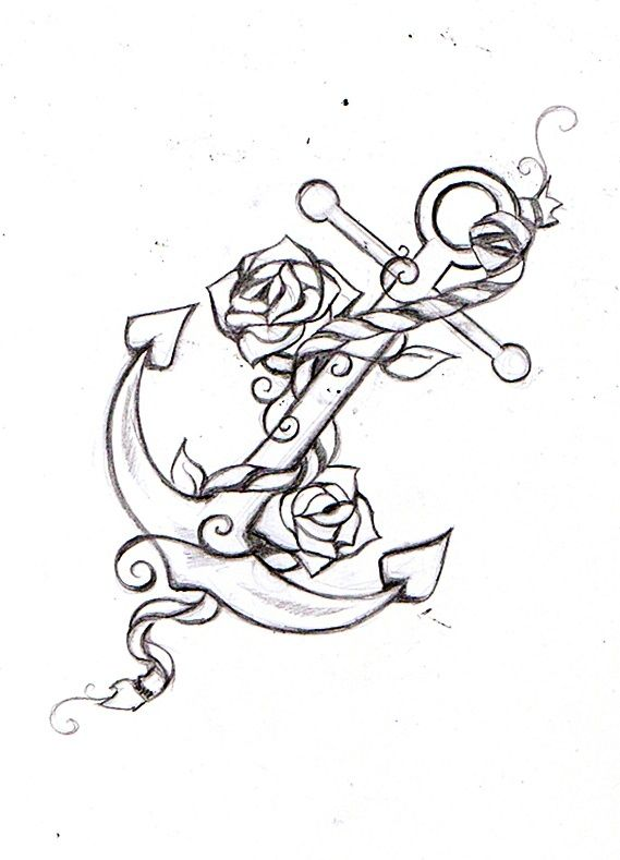I really like this idea with the roses and everything. My mum's middle name is Rose and she's kinda always been my anchor growing up. I really think this might be one of my tattoos.. (: