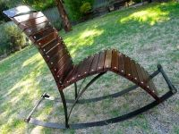 Scrap Metal Art Rocking Chair