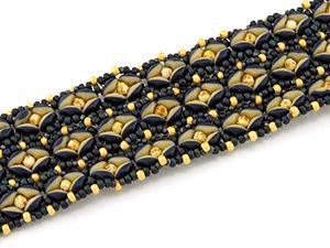 Classes | Eclectica Beads Two-tone bracelet w/super duets