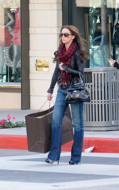 Jennifer Love Hewitt and AG Adriano Goldschmied Tomboy Jeans Photograph