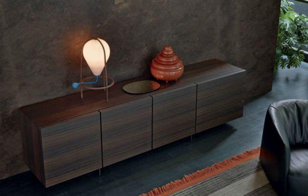 Aparador moderno / de madera lacada / de MDF / de cerezo - PANDORA  - Poliform