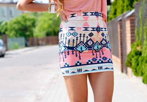 Short skirt with cute pattern! Perfect for summer <3
