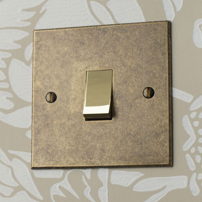 This Rocker Switch is a simple yet #elegant choice. We either hammer the edges in the #forge to create a #traditional finish, or bevel them for a clean, #contemporary finish.