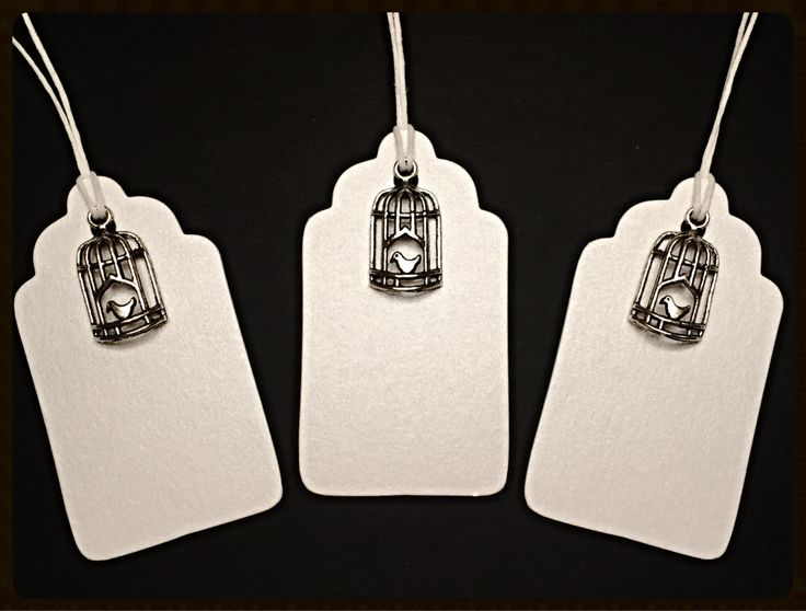 """Tags """"Bird Cage"""" - Handmade Gift Tags, Gift Tags, Favor Tags, Holiday Gift Tags, Love, Tags di TheEmporiumOfWonders su Etsy"""