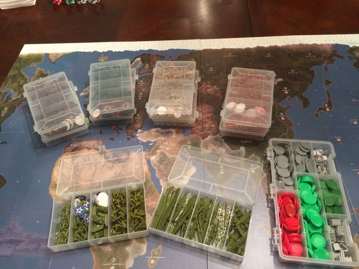 Axis and Allies organization ideas. Use fishing lure boxes