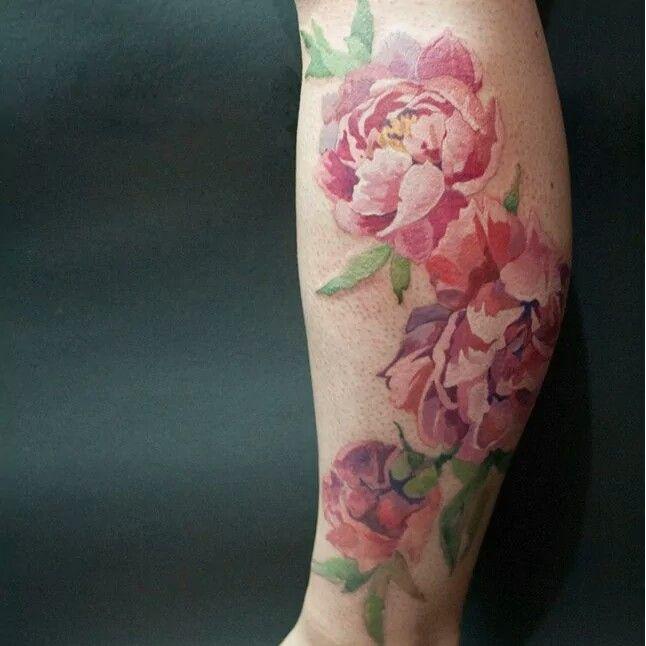 Gorgeous vintage flower tattoo