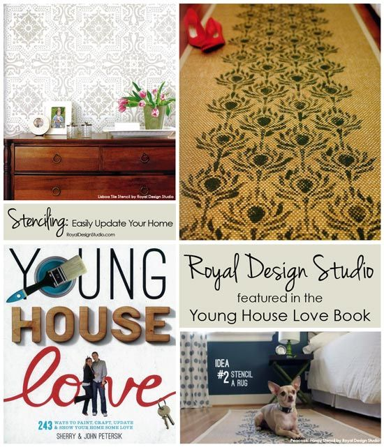 Easily Update Your Home with Stencil Projects found in the popular and BEST SELLING Young House Love book