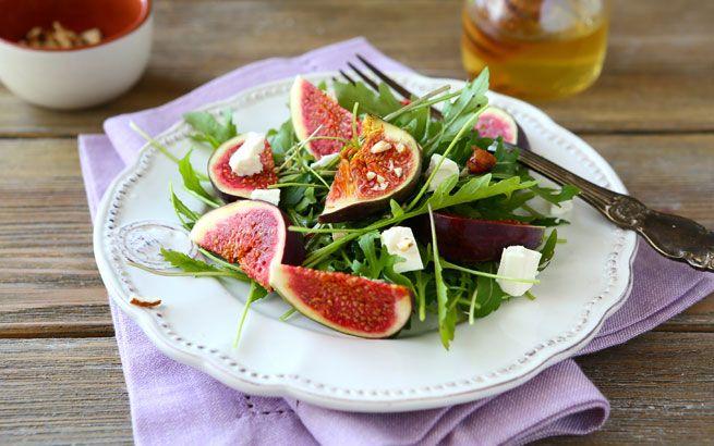 Aphrodisierende Rezepte: Feigensalat mit Feta
