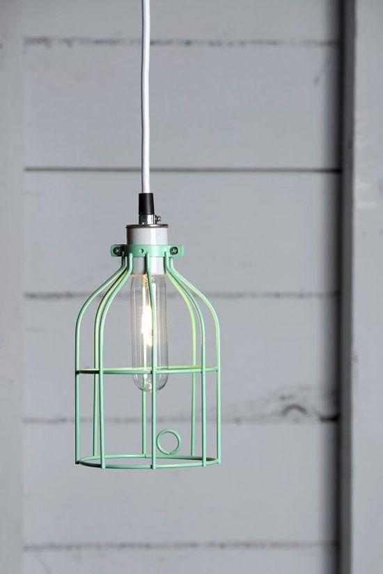 HOME | mint-cage-pendant-light