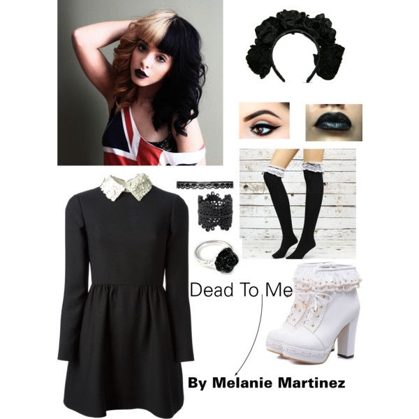 Dead To Me - Melanie Martinez by factorygirl953 on Polyvore featuring Valentino, LeiVanKash and Monki