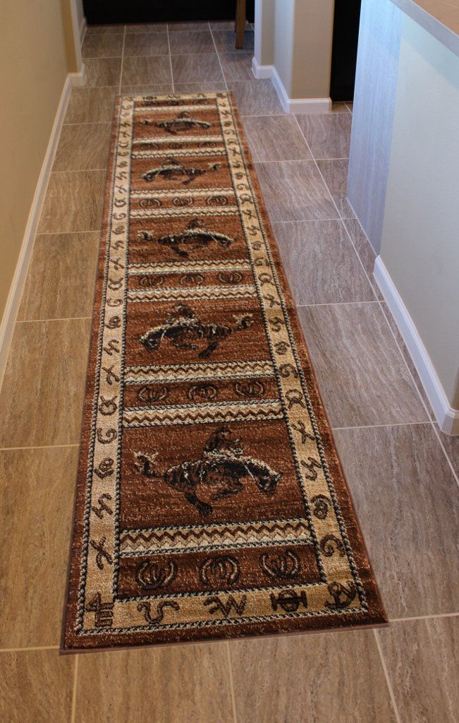 Lodge Western Area Rug Design 370 Brown 2 Feet 4 Inch X 10 Feet 9 Inch Runner You Can Get Additional Details At In 2020 Area Rug Design Western Area Rugs Area Rugs
