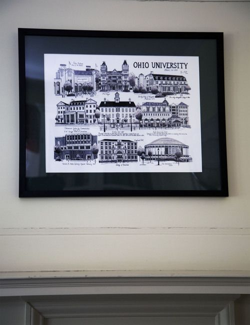 OHIO University Ink Drawing