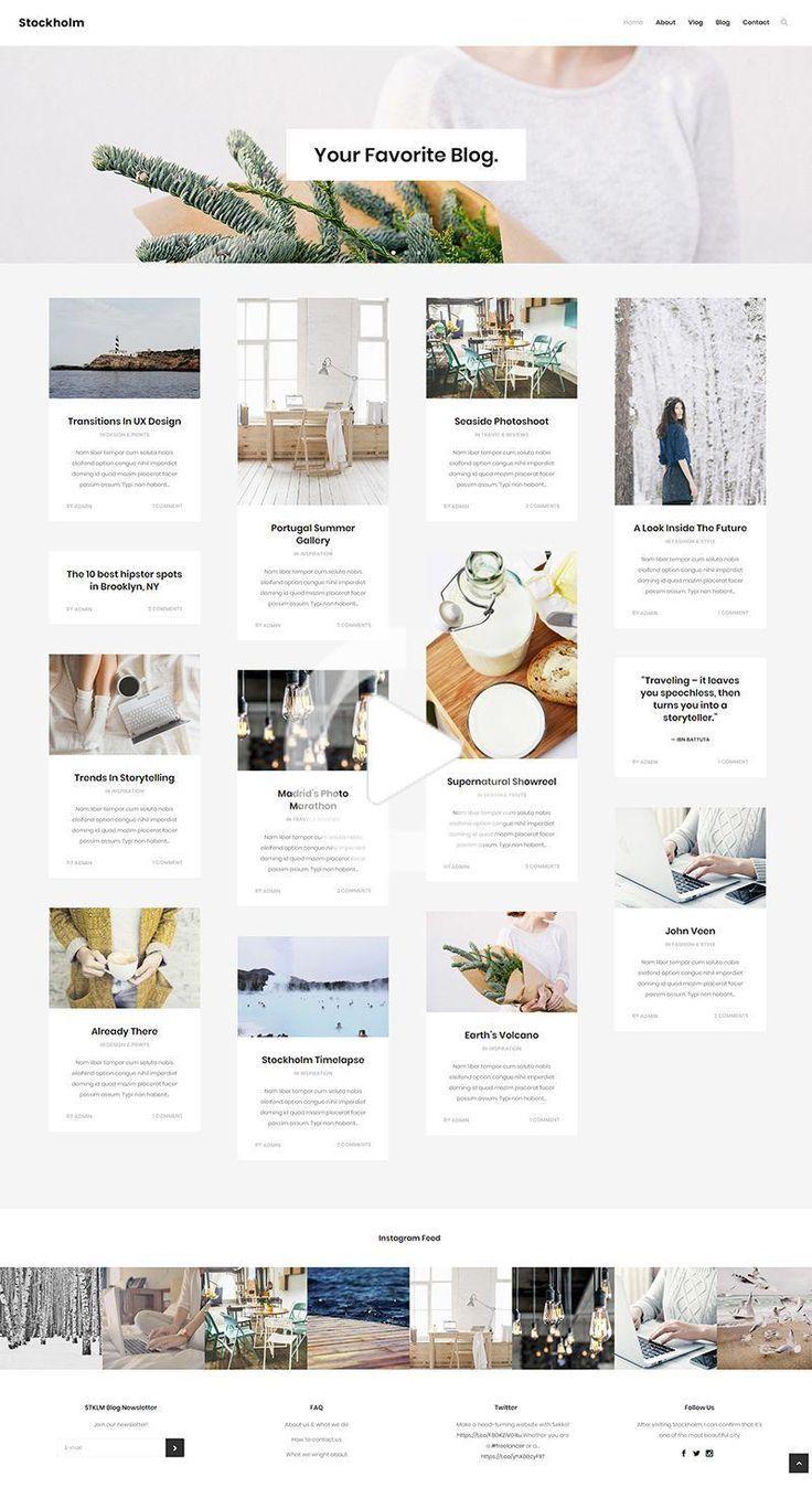 Blog Feed Blog Post Design Inspiration Blog Post Design Modern Web Design