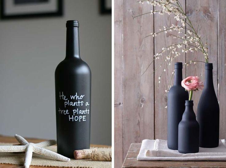 bottiglie vernice lavagna