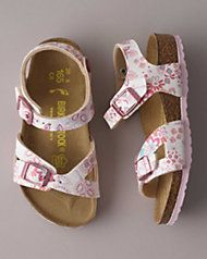 girls birkenstock® floral strap sandals