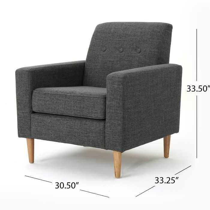 Vytis Armchair Mid Century Modern Fabric Furniture Armchair