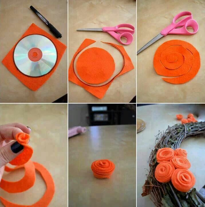20 DIY Felt Flower Tutorials I could add this dimensional flower to the ones on branches..have to check other ideas out here...