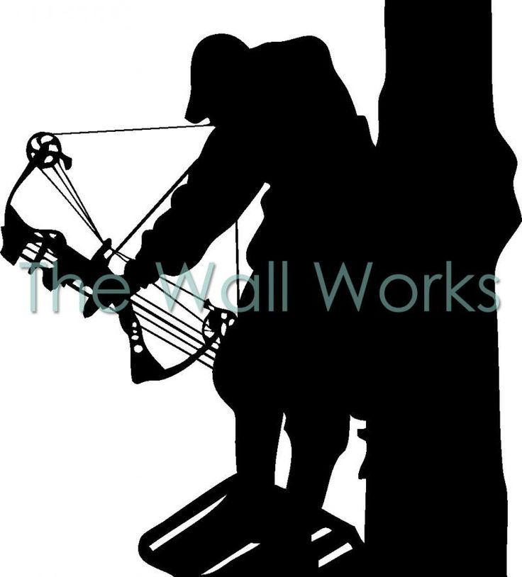 Bow Hunter in Tree Vinyl Decal | Car Decal | Hunting Decals | The Wall Works