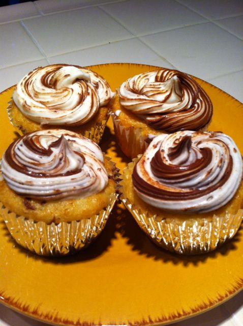 Simple Nutella ... Easy Nutella Cupcakes