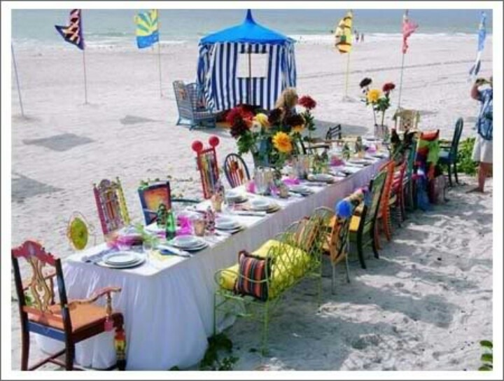 67 best cumple playa images on pinterest beach weddings for Beach house reception ideas