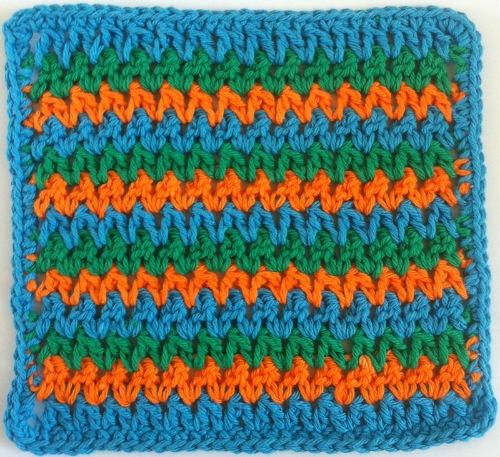 Crocheting Zig Zags : Zig zag dishcloth