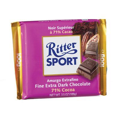 RITTER SPORT: 71% Extra Dark Chocolate Bar: 12 « Lolly Mahoney