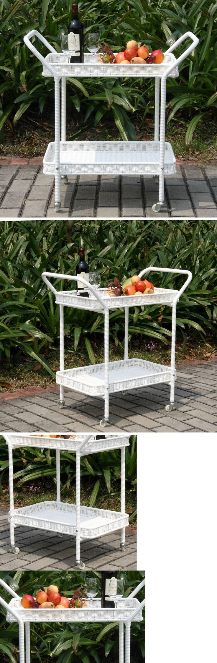 Outdoor buffet table serving cart as well century modern console table - Bar Carts And Serving Carts 183320 Wicker Serving Cart Vintage Victorian Style In Outdoor Tea
