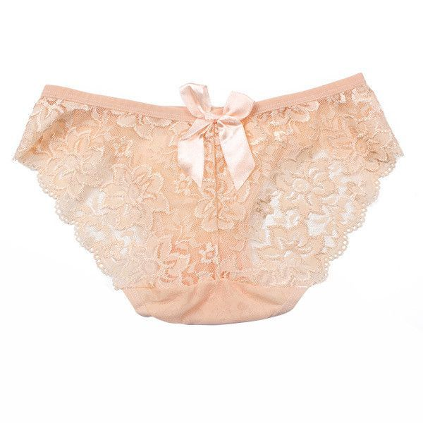 Women's Sexy Lace Briefs Flowers Panties See Through Bow-knot Underwear Panty Knickers 11 Colors L4