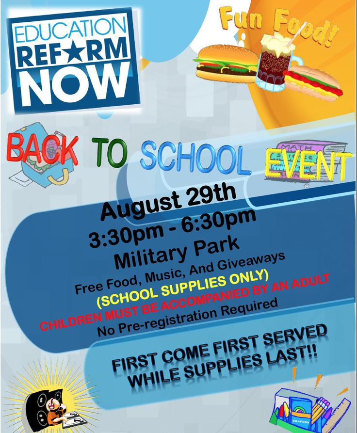 This is a back to School flyer created for a local community event.