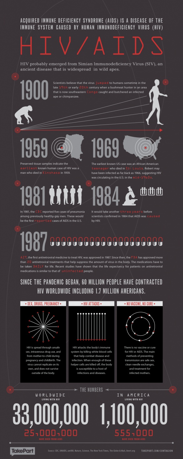 HIV / AIDS: history of the viral origin & the impact it's had on our population- both in the U.S. & Worldwide!