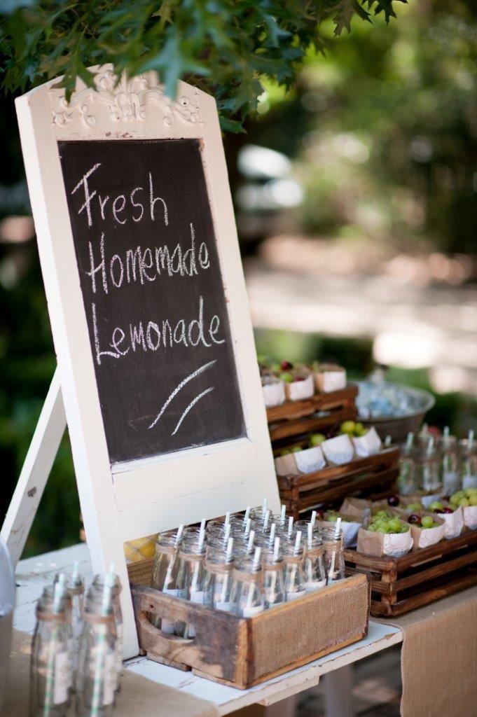 Fresh Lemonade stand blackboard signage