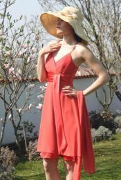Breezy Orange Dress