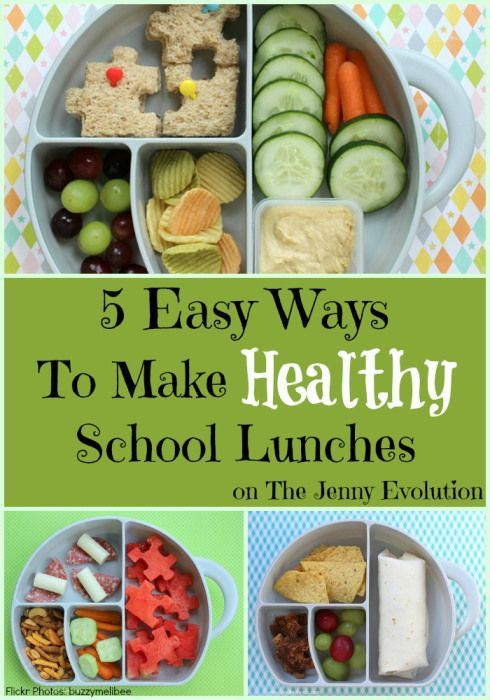 5 Easy Ways to Make Healthy School Lunches. Great suggestions!