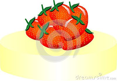 A lot was made of strawberry vector illustration shielded.
