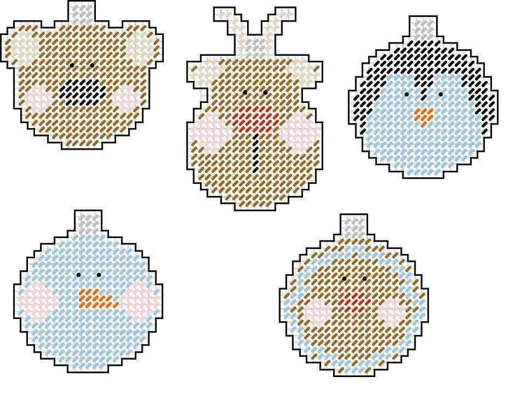 604 best Plastic Canvas-Christmas Ornaments images on Pinterest ...