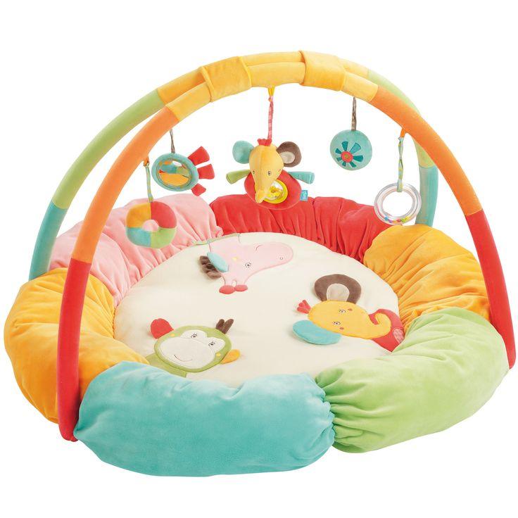 Safari tapis d'éveil cocon de Babysun, Tapis d'éveil : Aubert