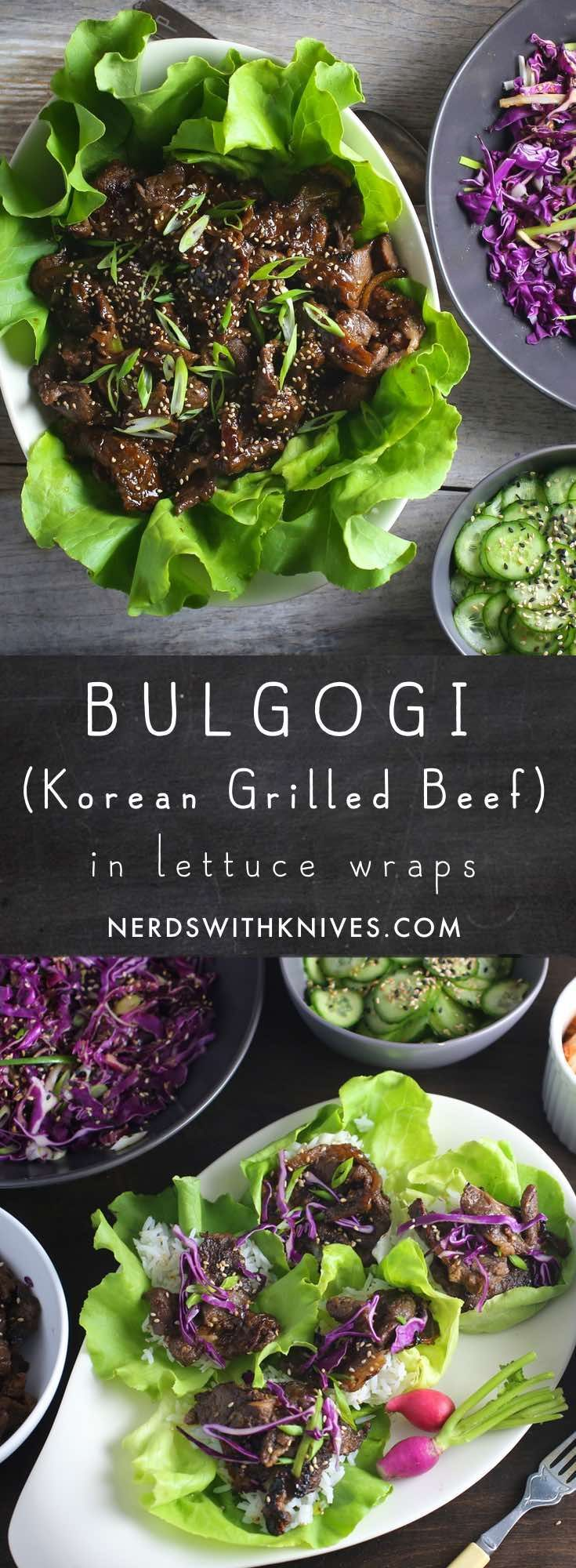 Bulgogi (Korean Grilled Beef) Lettuce Wraps