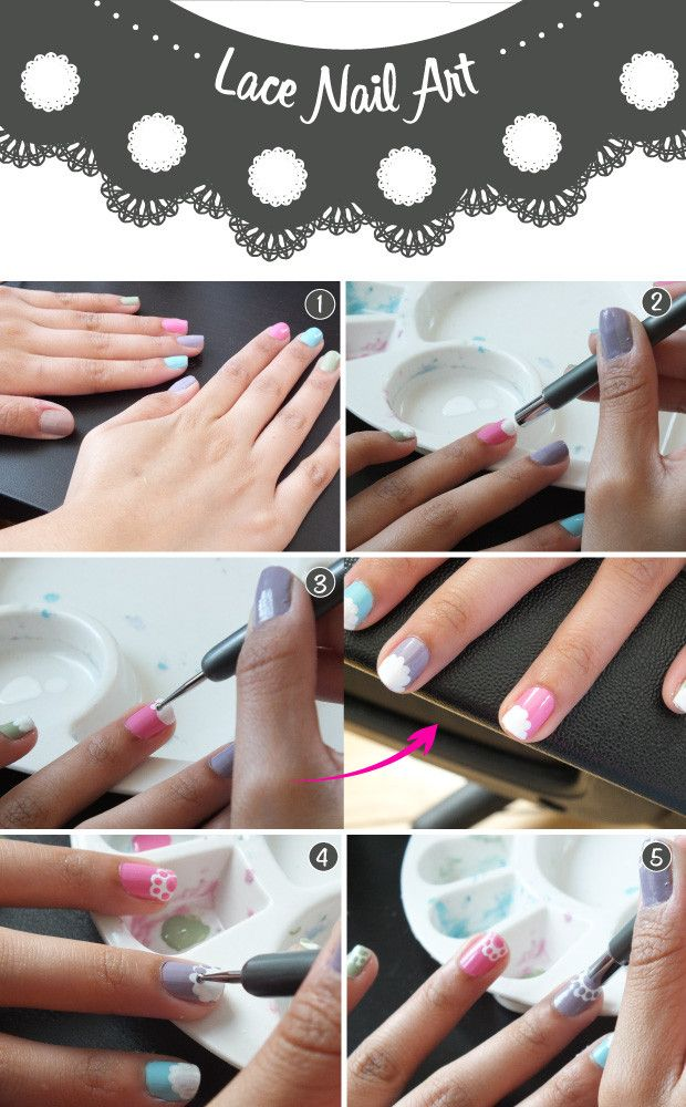 757 best nice nails images on pinterest nail scissors make up nail art tutorial the lace manicure prinsesfo Choice Image