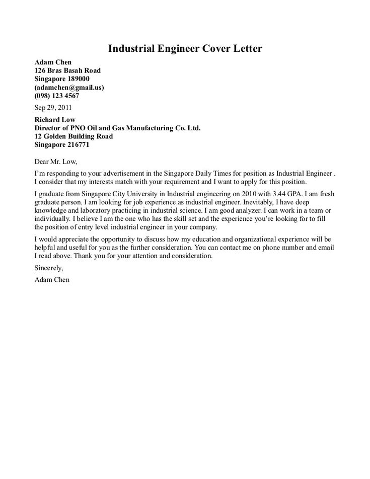 23 engineering cover letter examples cover letter