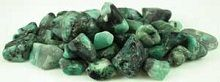 Emerald Tumbled Stones 1lbs These tumbled stones display swirls of green, mingled with veins of  black, grey and white, portraying ...