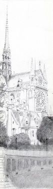 "Saatchi Art Artist Franco Fusari; Drawing, ""Paris Eglise de Notre Dame #N646"" #art"