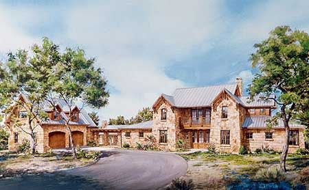 Plan W46008HC: Unique Hill Country Home Plan  Total Living Area: 3,163 sq. ft.