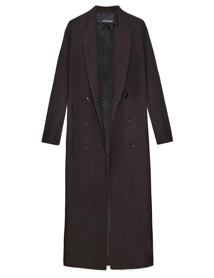 Rodebjer Coats - Black Long Blazer Coat