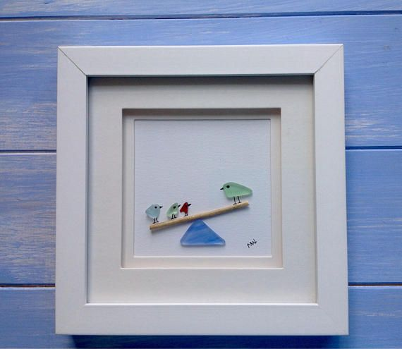 Items similar to Sea glass picture Beach glass on Etsy