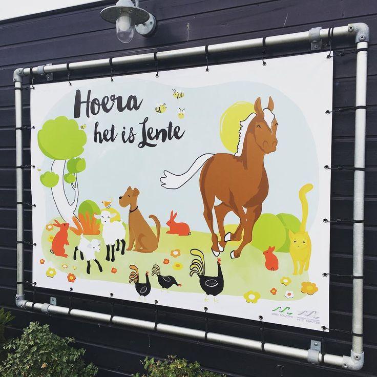 | Westland | Grafisch vormgeven | dboon ontwerp | Illustration | Lente | Horse | dog | Animal | Vrolijk | Dieren | Poster | Spandoek Bekijk deze Instagram-foto van @dboonontwerp • 9 vind-ik-leuks