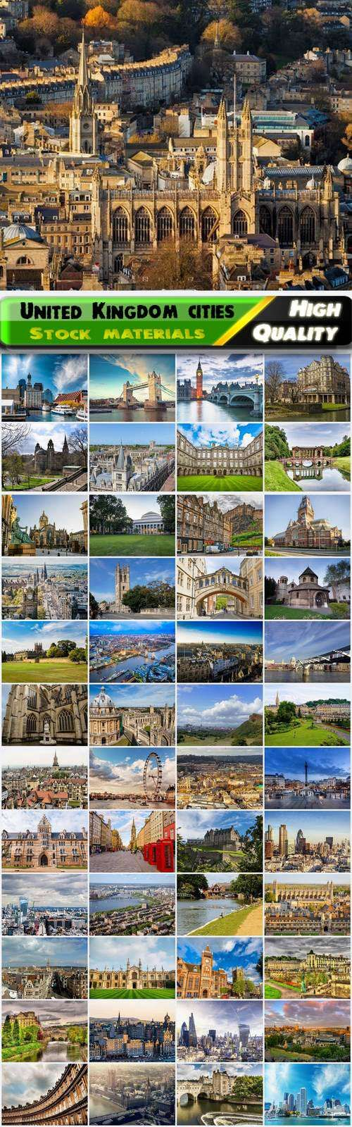 Famous United Kingdom cities London Oxford Edinburgh Cambridge Bath 50 HQ Jpg