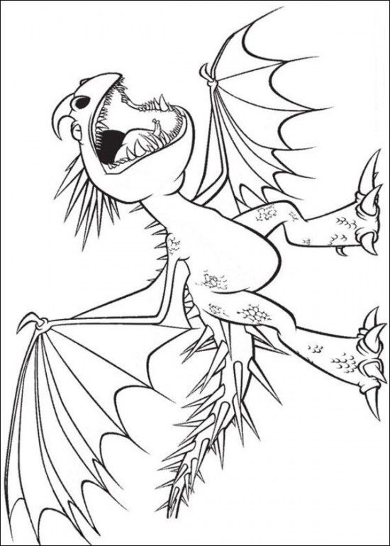 Printable Coloring Page of How to Train Your Dragon Picture 2 550x770 Picture