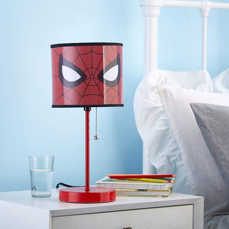 Add A Fun Theme To A Kids Bedroom Play Space Or Study Area With This Spiderman Stick Lamp The Colorful And Funct Pink Table Lamp Decorative Table Lamps Lamp